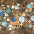 All That Blue Behind - original abstract painting on canvas by Marco Sivieri