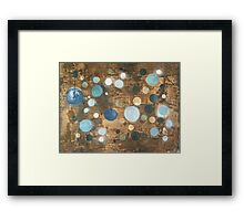All That Blue Behind - original abstract painting on canvas Framed Print