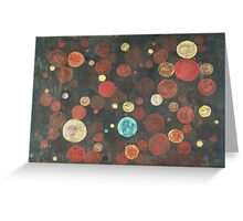 Autumn Thoughts Meeting - original abstract painting on canvas Greeting Card