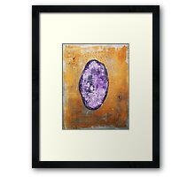 All About That Stone - original acrylic painting on canvas Framed Print
