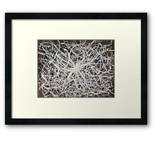 Connexions - original abstract acrylic painting on canvas Framed Print