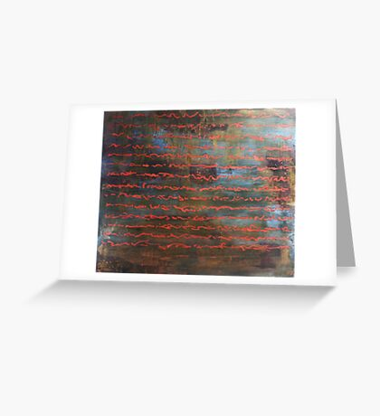 All the Time in the Word - original acrylic painting on wood panel Greeting Card