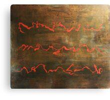 Short Hymn - original acrylic painting on canvas  Canvas Print