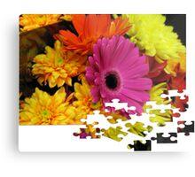 Flowers Puzzle Metal Print