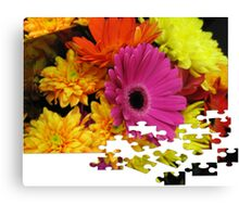 Flowers Puzzle Canvas Print
