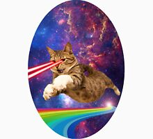 Laser cat in space  Unisex T-Shirt
