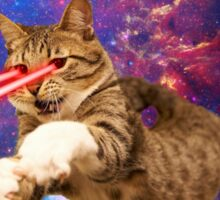 Laser cat in space  Sticker
