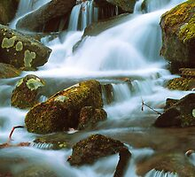RUSHING CASCADE by Chuck Wickham