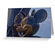 """""""Partners"""" - Mickey Mouse and Walt Disney Greeting Card"""