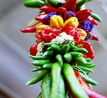 Market peppers by Robert Lee