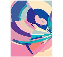 Floral abstract pixels Photographic Print