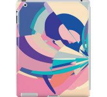 Floral abstract pixels iPad Case/Skin