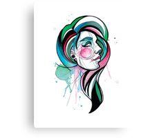 Pretty Watercolor Lady Canvas Print