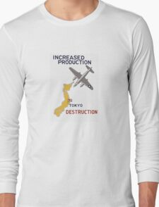 Increased Production Tokyo Destruction -- WW2 Poster Long Sleeve T-Shirt