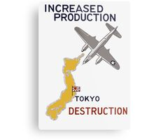 Increased Production Tokyo Destruction -- WW2 Poster Metal Print