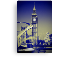 Big Ben: London UK: The Story of the Bell Canvas Print