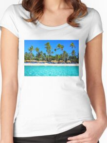 Postcard from Punta Cana, The Dominican Republic Women's Fitted Scoop T-Shirt