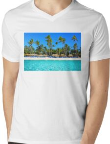 Postcard from Punta Cana, The Dominican Republic Mens V-Neck T-Shirt