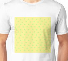 Yellow and Green Pastel Polka Dot Unisex T-Shirt