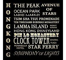 Hong Kong Famous Landmarks Photographic Print