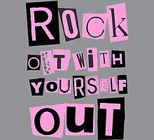 ROCK OUT WITH YOURSELF OUT! (pink) by NYTRClothing