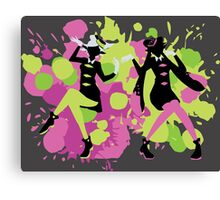 Splatfest Explosion Girls!  Canvas Print