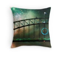 Sydney Harbour bridge New Years Eve 2010 Throw Pillow