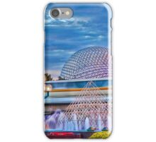Monorail Yellow: Blurs past Spaceship Earth iPhone Case/Skin