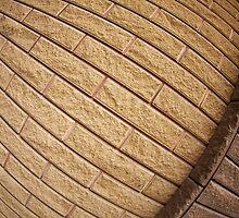 Fragment of decorative brickwork brown by vladromensky