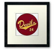 Retro Arizona State University Sun Devils Barry Bonds #24 Framed Print