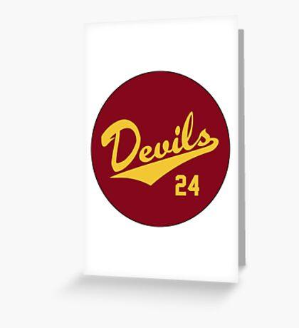 Retro Arizona State University Sun Devils Barry Bonds #24 Greeting Card