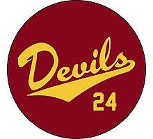 Retro Arizona State University Sun Devils Barry Bonds #24 Photographic Print