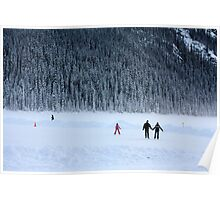 Skating on Lake Louise Poster