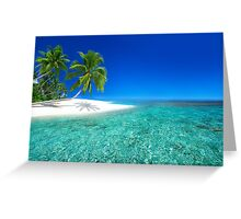 Postcard from the Anse Lazio beach - Praslin island, Seychelles Greeting Card