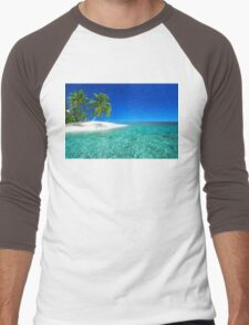 Postcard from the Anse Lazio beach - Praslin island, Seychelles Men's Baseball ¾ T-Shirt