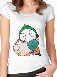 Sarah and Duck Women's Fitted Scoop T-Shirt