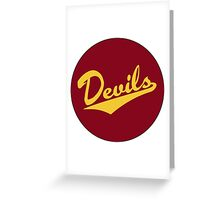 Retro Arizona State University Sun Devils Greeting Card
