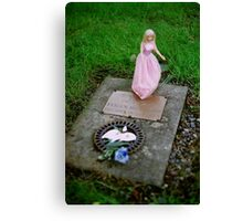 Baby Evelyn's Grave Canvas Print