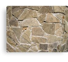 The texture of the walls of rough stones Canvas Print