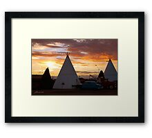 Route 66 Accomodations Framed Print