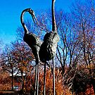 Heron Statues by Marie Sharp