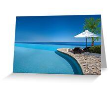 Postcard from Anse Lazio beach at Praslin island, Seychelles Greeting Card