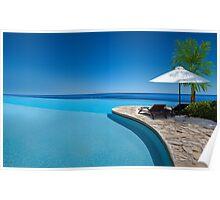 Postcard from Anse Lazio beach at Praslin island, Seychelles Poster