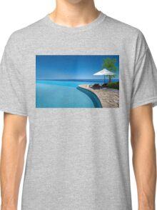 Postcard from Anse Lazio beach at Praslin island, Seychelles Classic T-Shirt