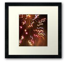 NYE fireworks Framed Print