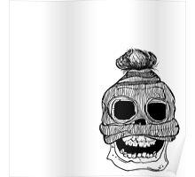 Skull with Skull Cap Poster