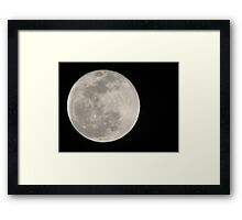 New Year Blue Moon Framed Print