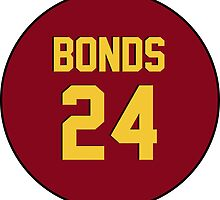 Retro Arizona State University Sun Devils Barry Bonds #24 Back by dswift