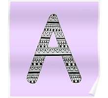 'A' Patterned Monogram Poster