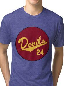 Retro Arizona State University Sun Devils Barry Bonds #24 Tri-blend T-Shirt